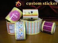 Custom Stickers Logo Plastic PVC Vinyl Paper Transparent Clear Adhesive Round Hologram Stationery Sticker Labels Printing