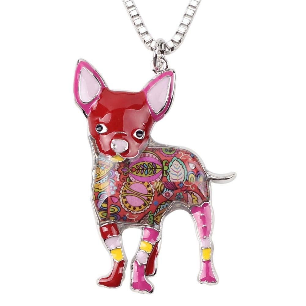 Bonsny Maxi Statement Metal Aloy Chihuahuas Dog Choker Boyunbağı - Moda zərgərlik - Fotoqrafiya 5