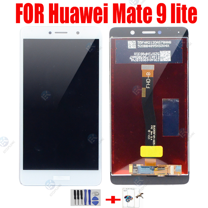 LCD Display With Touch Screen Digitizer For Huawei Mate 9 Lite LCD Assembly 5.5'' IPS Display Replacement Repair Parts BLL L23