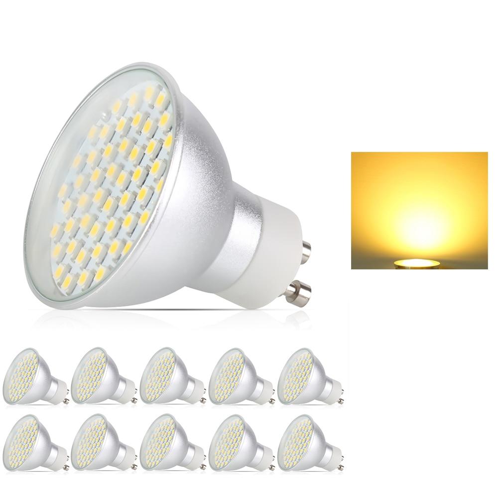 10x GU10 4.5 W LED Spot Lumière SMD2835 AC195-240V En alliage D'aluminium LED Ampoule Lampe À Économie D'énergie Spotlight Accueil Lumières Spot lumière