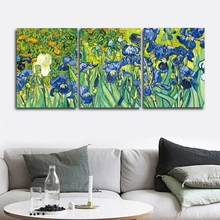 Iris by Van Gogh Wall Picture Poster Print Canvas Painting Calligraphy Decor for Living Room Bedroom Home Frameless