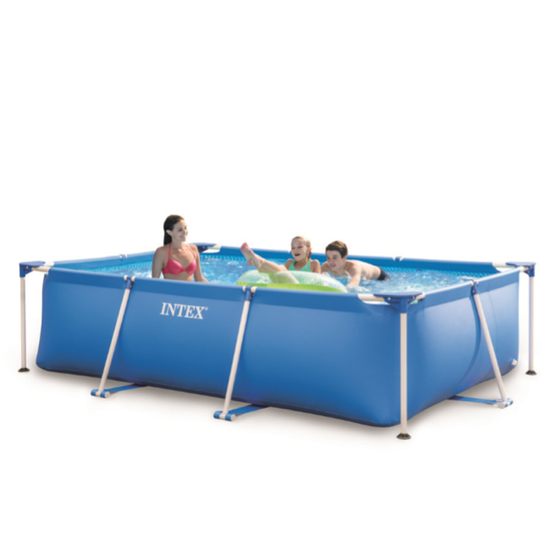 Swimming pool schwimmbecken frame pool lounge neu 28272 in for Intex mini frame pool afdekzeil