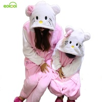 Flannel Boys Girls Children S Pajamas Panda Pikachu Sleepwear Family Matching Outfits Women Home Clothing Couple