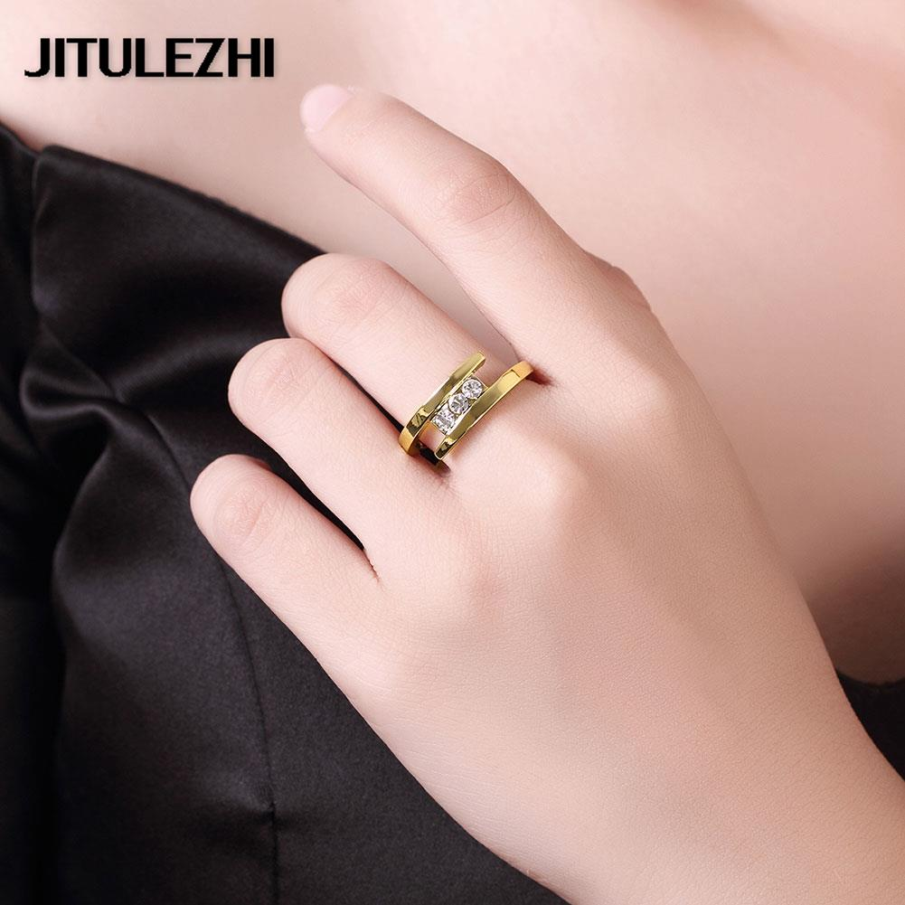 Aliexpress.com : Buy Gold plating rings for women wedding jewelry ...