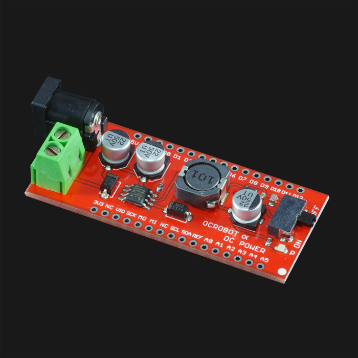OCROBOT, ALPHA, DC Step-down DC Power Supply Module dc dc step down power supply adjustable module with lcd display with housing case