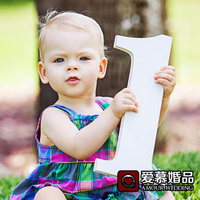 40CM High Big Number Plate 123456789 Baby Photo Props Children S Birthday Digital Pictures Decoration White