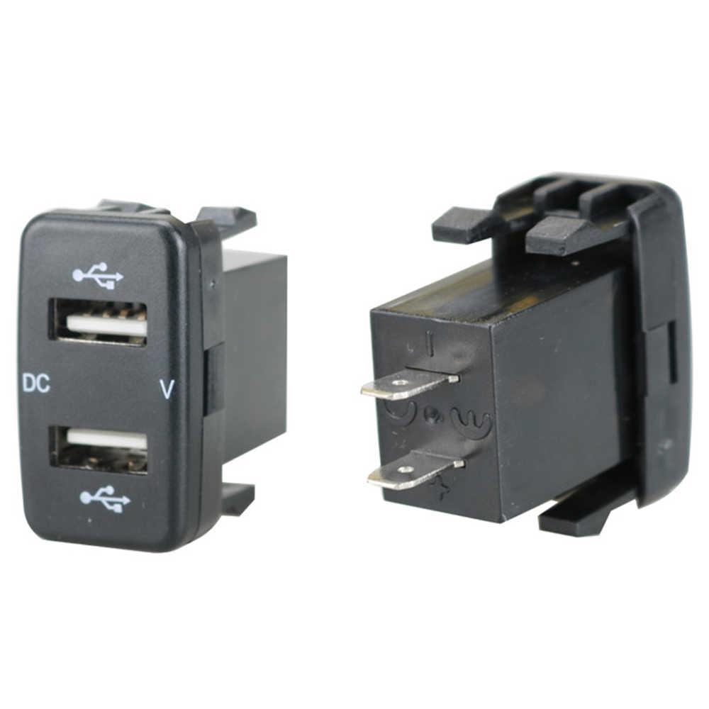 1 Uds. Cargador de coche de doble puerto USB de carga Volt Display Adapter para Toyota alta calidad gran oferta