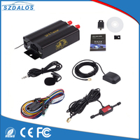 SZDALOS GSM/GPRS/GPS Auto Vehicle Car GPS Tracker Tracking Device with Remote Control Anti theft Car Alarm System