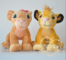 NEW 2pc 45cm The Lion King plush soft toys,simba and nala plush Doll