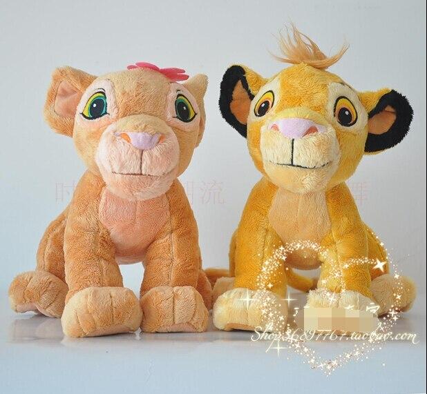 NEW 2pc 45cm The Lion King Plush Soft Toys,simba And Nala