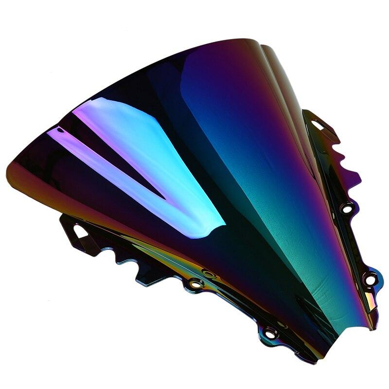 POSSBAY подогревом мульти-Цветной мотоцикл лобовое стекло ветрового стекла дефлекторы пригодный для YAMAHA YZF R6 2006-2007 ветер защиты