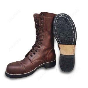 Image 1 - WW2 米軍 82 101 空挺落下傘兵のブーツの靴革高品質米国/503312
