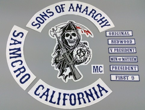 Free Shipping Sons Of Anarchy With Leather Embroidery Chapter