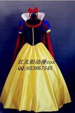 Deluxe Version Snow White Princess Dress Fairy Tale Mascot Costumes Party Dress For Halloween Cloak + Headwear