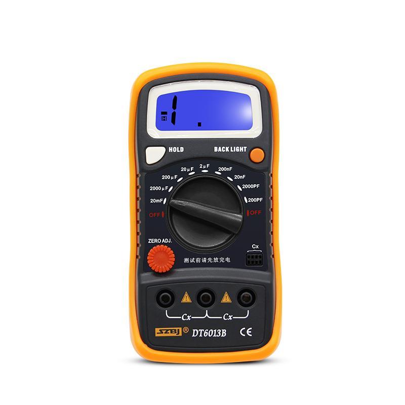 SZBJ портативный цифровой измеритель емкости DT6013B, конденсатор с ЖК-подсветкой