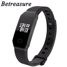 Betreasure BW14 смарт-браслет Приборы для измерения артериального давления/кислорода в крови/сердечного ритма Фитнес браслет трекер активности Шагомер Smart Band