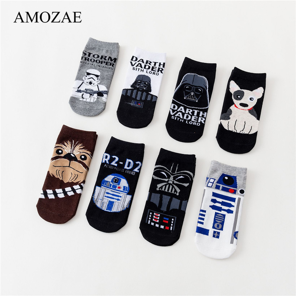 New Free Shipping Women Sock Small Animal Cartoon Short 100% Cotton Boat Socks Amozae Causal Breathable Casual Ladies Funny Sock