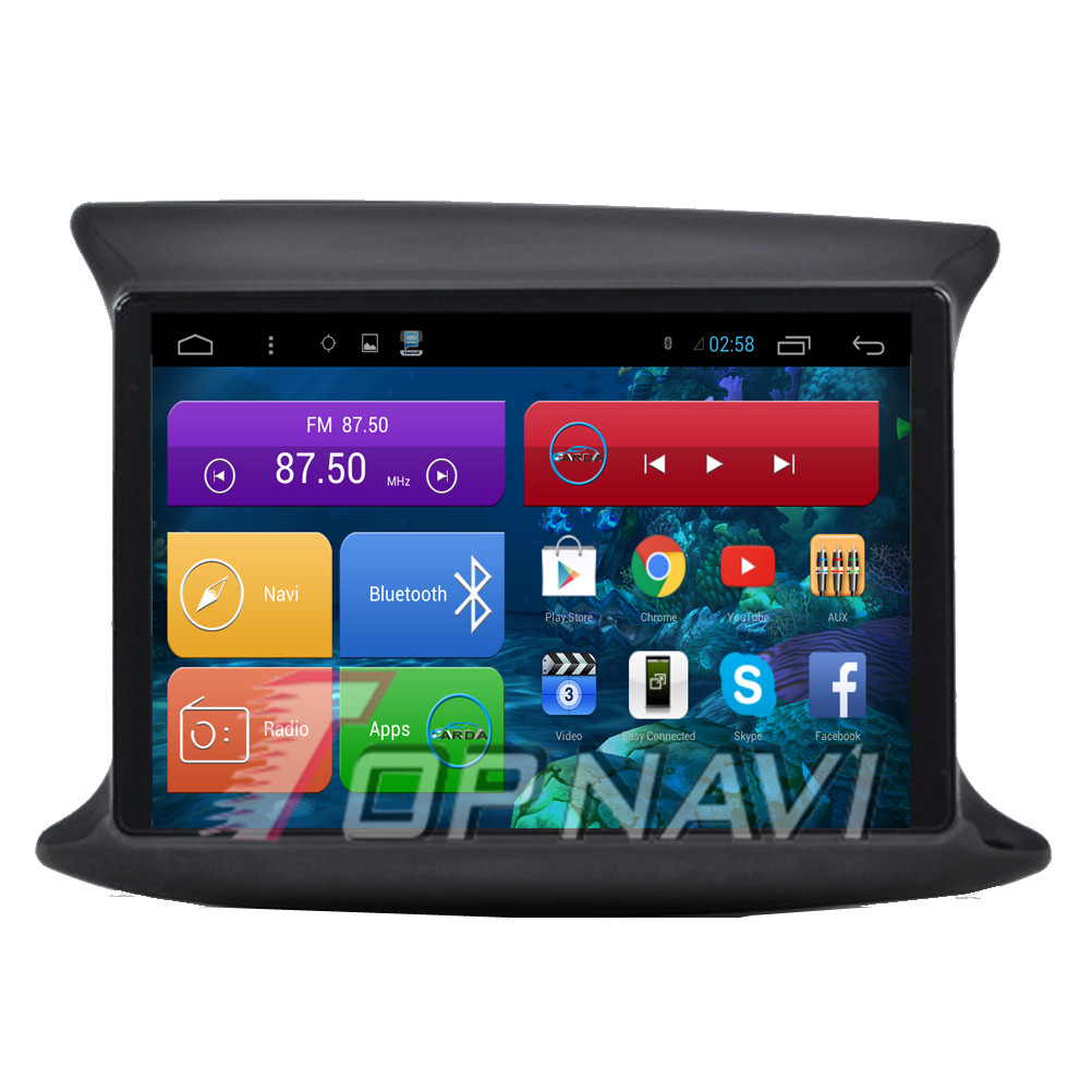 Professional Free Shipping Quad Core Android 4.4 Car Stereo for Fiat Viggio With 16GB Flash Mirror Link Wifi BT Free Map