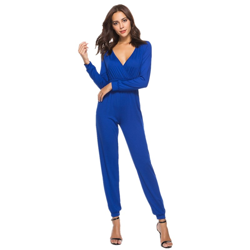 summer jumpsuits for women fashion 2018 plus size rompers womens jumpsuit pants one piece deep v neck jumpsuit overalls ZH805N
