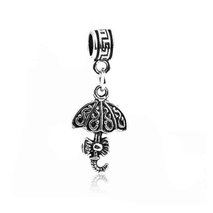 Punk Color plata hueco amor corazón elefante bruja corona colgante de búho cuentas ajuste Pandora encanto pulseras para las mujeres que hacen la joyería