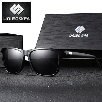 d47d4617f6 UNIEOWFA Retro cuadrado de aluminio y magnesio, gafas de sol para hombres, gafas  de