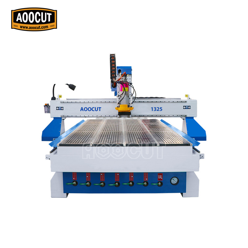 Customized size Aoocut 1325 atc wood cnc router machinery for aluminum cutting 1