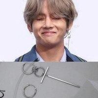 KPOP Bangtan Boys Album BTS JIMIN Stud Earrings Korean Mens Womens Long 925 Sterling Silver Earring