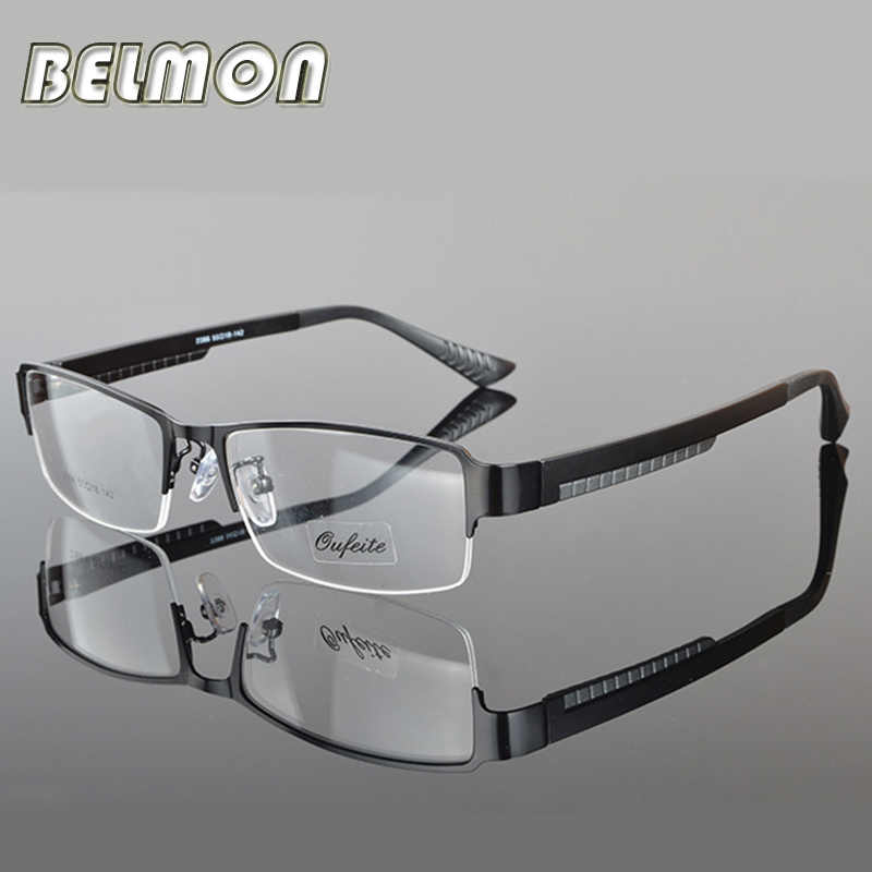 Spectacle Frame Eyeglasses Men Nerd Computer Myopia Prescription Optical Clear Eye Glasses Frame For Male Transparent Lens RS038