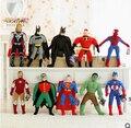 40 CM Los Vengadores Superman Batman Niños de la muñeca del bebé de Peluche de Juguete juguetes para niños de peluche muñeca de regalo de cumpleaños