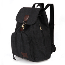 Woman canvas backpacks female vintage bag fashion backpacks for teenage girls re