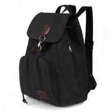 Woman canvas backpacks female vintage bag fashion backpacks