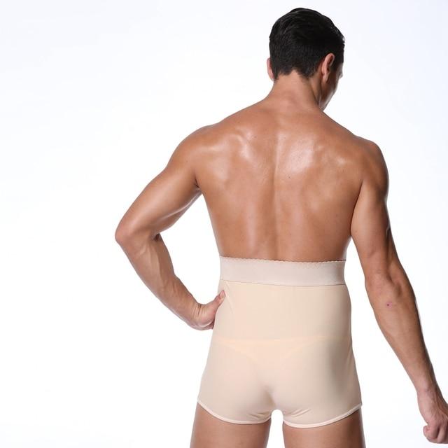 S-6XL Men Padded Butt Lifter panties fitness Waist trainer shapewear steampunk men Tummy Trimmer Corset Man pad Control Panties 5