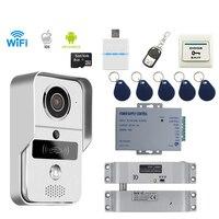 JEX Smart WiFi Doorbell Wireless Video Door Phone Intercom Kit Smartphone View Unlock IOS Android 8GB