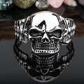 Kalen New Design 316 Stainless Steel Skull Bangle Rock Punk Biker Bangle Bracelet For Men Cool Jewelry Gothic Accessory Gift