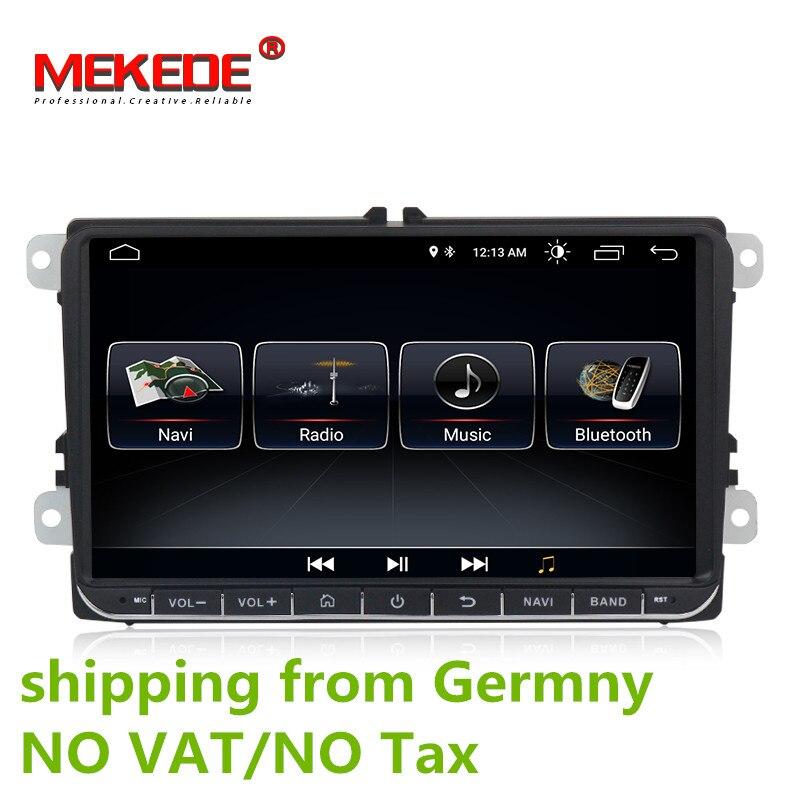 HD 9 pouces Voiture Radio 9 ''Android 8.0 Véhicule GPS Navigation DVD Pour VW Golf Polo Passat Beetle Touran jetta Pour SKODA Pour SEAT