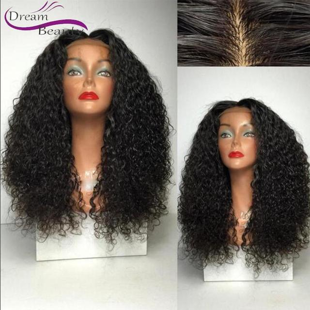 Soft Mongolian Remy Human Hair Full Lace Wig Afro Kinky Curly Glueless Lace Front Wig Baby Hair Cheap Small Curly Wig