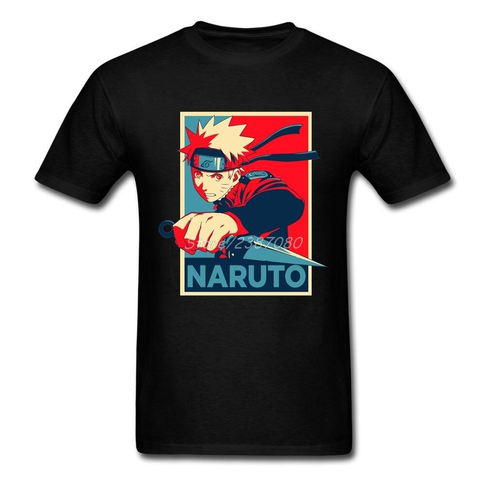 NARUTO T Shirt Custom Short Sleeve Brand-clothing New Undertale 3XL Cotton Crewneck Uzumaki Naruto Men Shirts