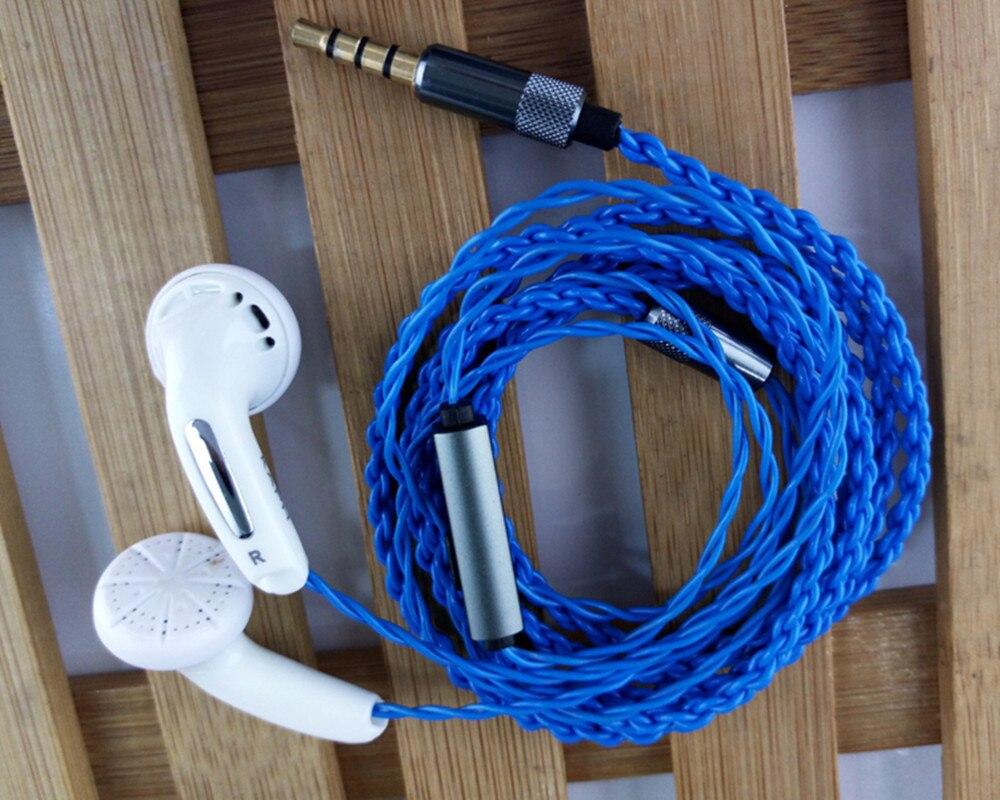 100% Newest FENGRU DIY 3.5mm In ear Earphones Flat Head Plug DIY Earphone HiFi Bass Earbuds DJ Earbuds Heavy Bass Sound Quality
