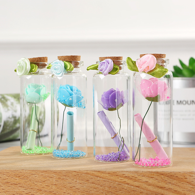 Decorative Flowers Drifting-Bottle Wedding Friend Birthday for Girl 12pcs Romantic Valentine's-Day-Gifts
