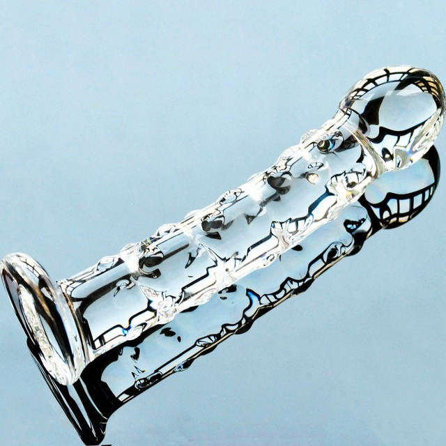Pyrex glass fake penis crystal artificial male genital dick