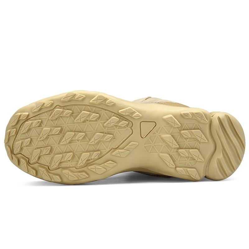 Tobillo Zapatos Seguridad Botas De Antideslizante Desierto sand Militares Black Ejército Libre Tácticas Trabajo Al Aire Combate Hombres Malla Transpirable 1fwqXZ