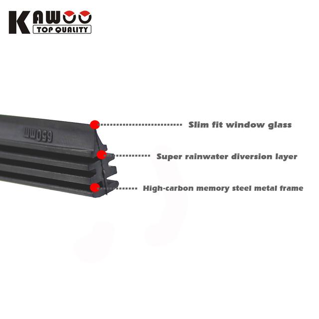 2pcs High Quality Boneless Frameless Rubber Car Wiper Blade refill Strips Windscreen 6mm 26″28″30″32″ Windshield car accessories