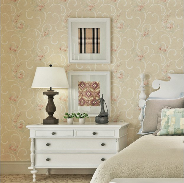 new 2016 hot selling non-woven walpaper American pastoral Sweet wallpaper sitting room TV setting wall restoring ancient ways 691 stereo video wallpaper tv setting europe type restoring ancient ways sitting room bedroom non woven wall sticker home decor