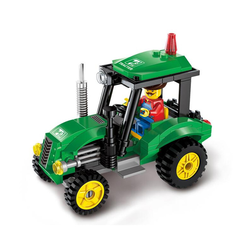 Cool !! Tractor DIY Building Blocks Kit Toy Truck Construction Bricks Children Educational Toys Gift 112pcs Blocks