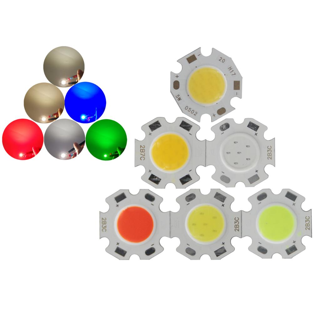 ALLCOB Manufacturer 20mm 11mm Round Aluminum LED Light Source Module 3W 5W 7W Blue Green Red COB Lamp Flip Chips For Spot Light