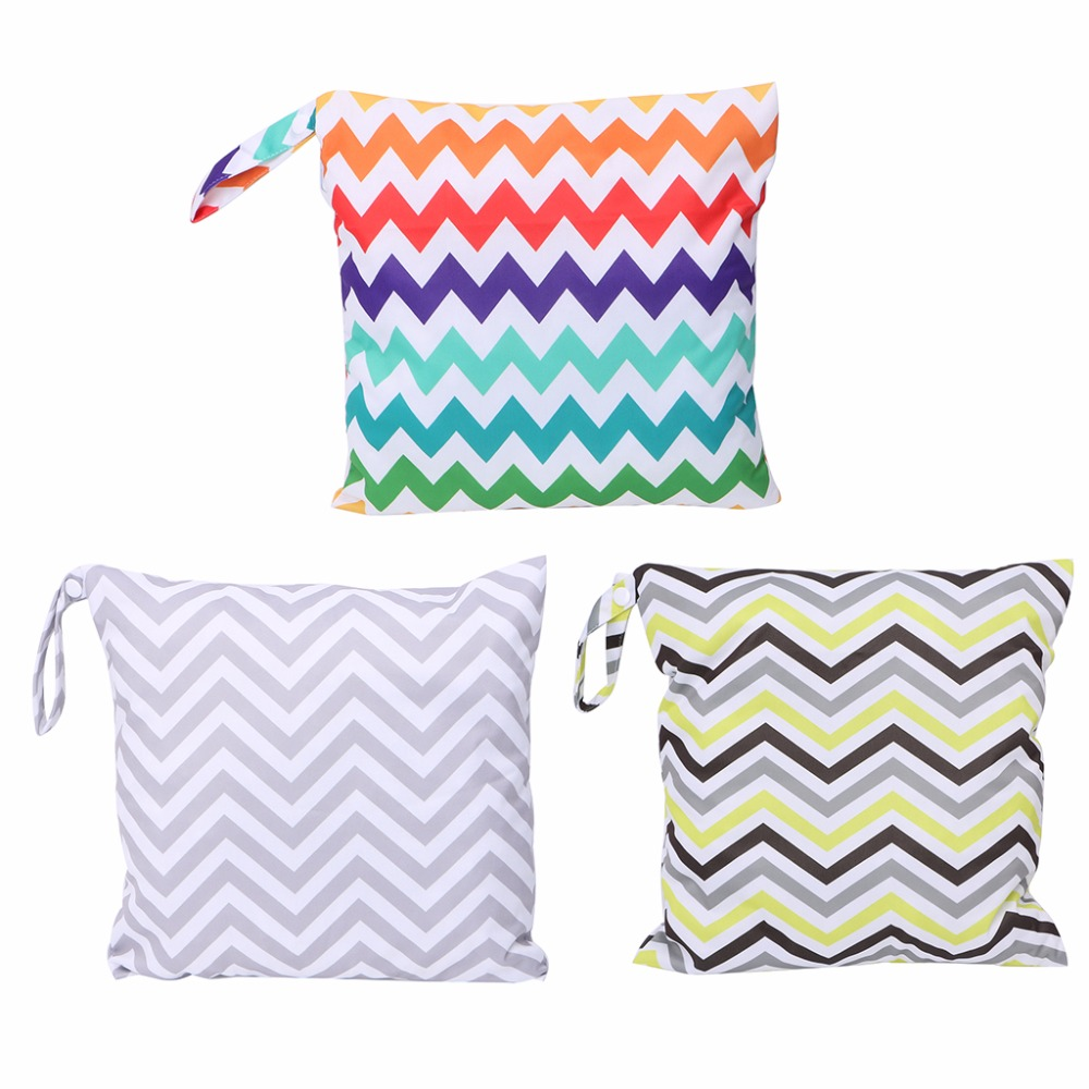 Baby Diaper Bags Nappy Waterproof Reusable Washable Wet Dry Cloth Zipper Diaper Tote Cover Bag New