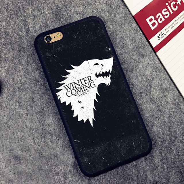 Game Of Throne Winter is Coming Rubber Soft Phone Back Cover Case For iphones