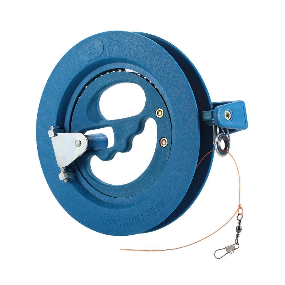 16 см/18 см катушка для воздушного змея + 90 м/180 м кайт линия круглый синий пластик ABS удобный шарикоподшипник Моток для воздушного змея с выдвижной ручкой