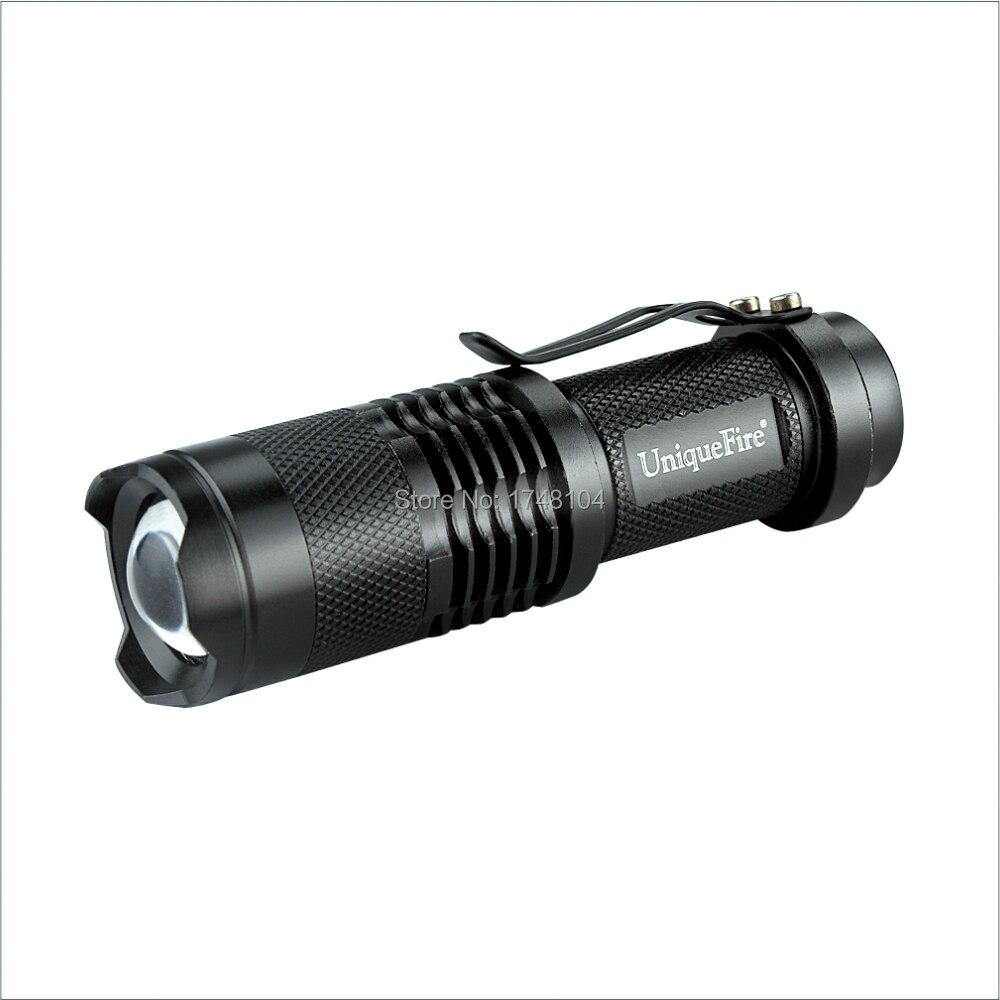 Uniquefire Sk-68 Aluminum Mini Zoomable Convex Lens Led Torch Light Flashlight Xp-e Led 3 Switch Mode Led Lighting
