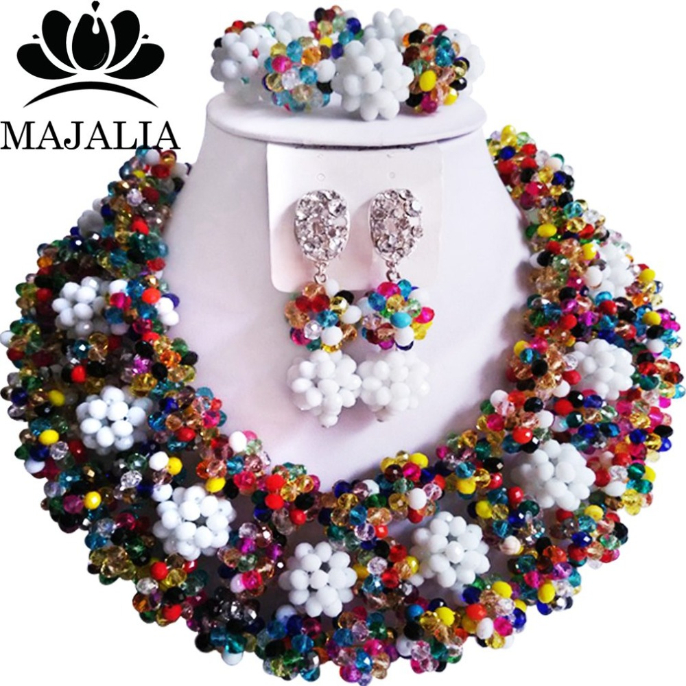 Fashion african jewelry set Multicolors Crystal nigerian wedding african beads jewelry set crystal Free shipping Majalia-287Fashion african jewelry set Multicolors Crystal nigerian wedding african beads jewelry set crystal Free shipping Majalia-287
